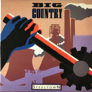Big Country - Steeltown (LP) (VG/VG-)
